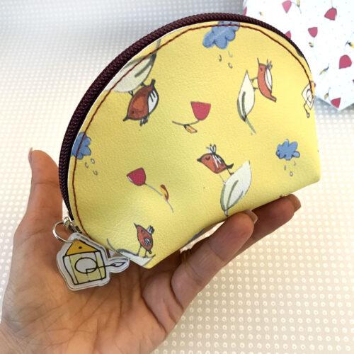 Pochette Mezzaluna cartamodello ecopelle tessy