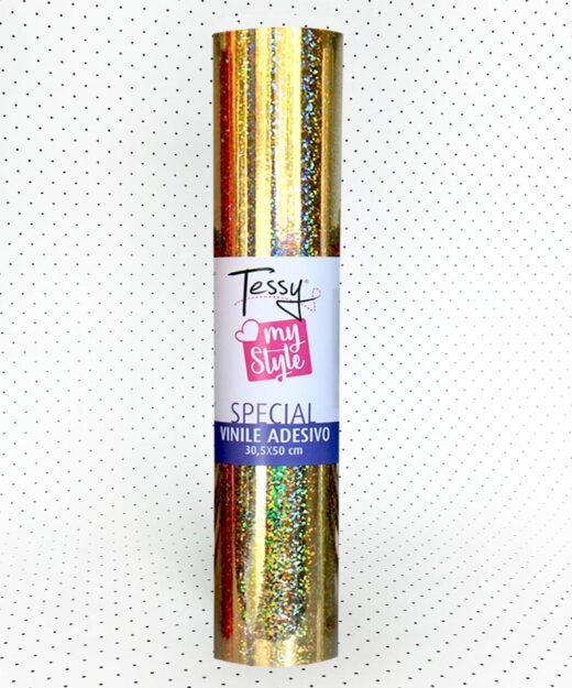 Vinile adesivo glitter olografico my style