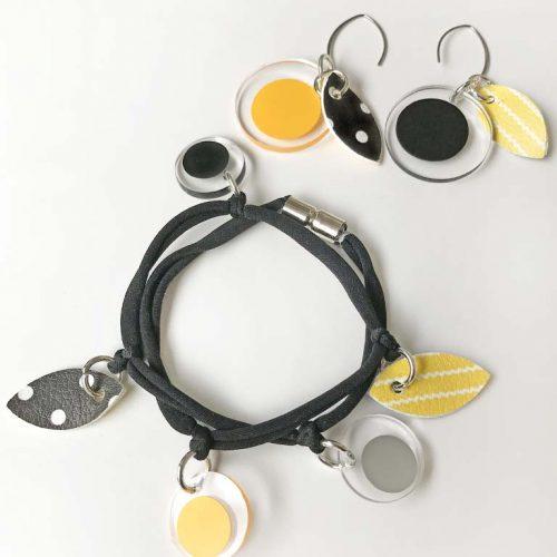 tessy bijou modello trasparenza bracciale e orecchini